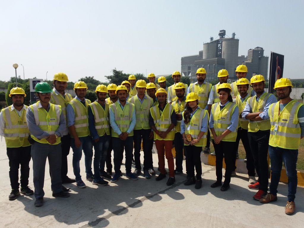 Industrial Trip of B. Tech. Final year Civil @ Ultratech Cement Plant