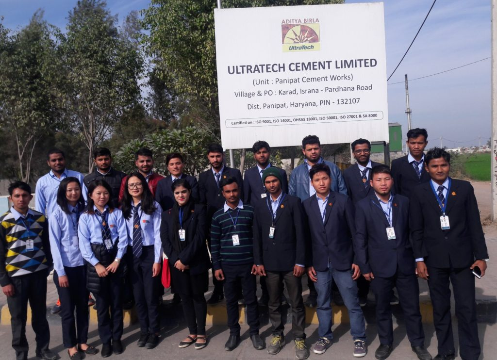 Industrial Trip of B. Tech Civil Third Year to Ultratech Cement Plant Dated- 20-01-2017