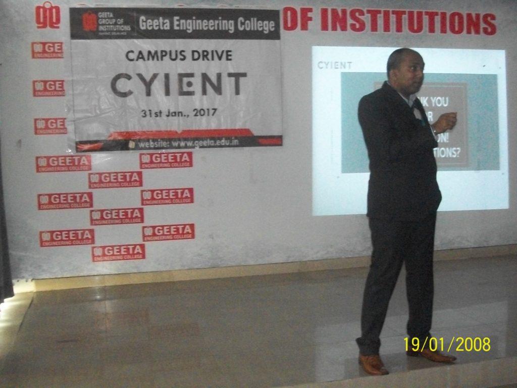 Cyient Campus drive on 31 Jan 2017