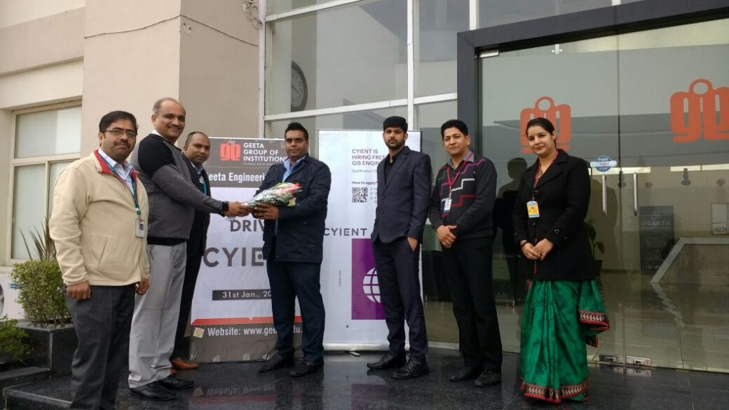 Cyient Campus drive on 31 Jan 2017