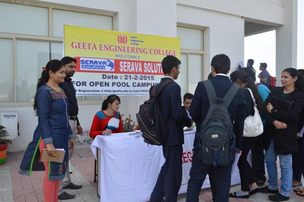 Campus Placement Drive By SERAVA Solutions