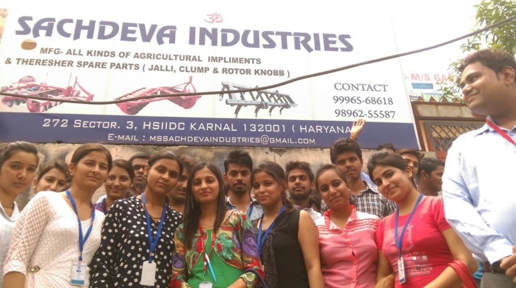 Industrial Visit of MBA Department