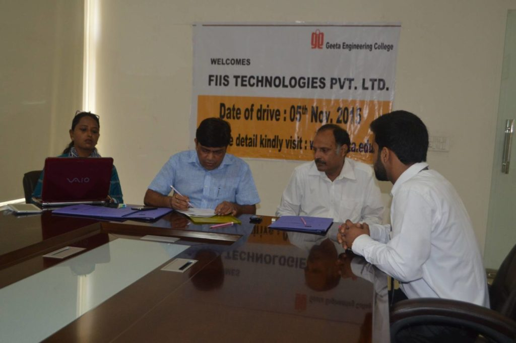 Placement Drive By FIIS Technologies Pvt. Ltd.